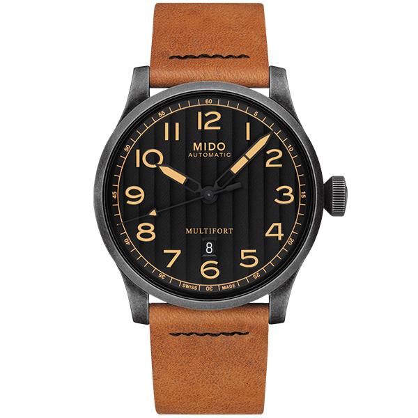 【MIDO 美度】MULTIFORT 先鋒系列 Horween特別版機械錶-44mm/M0326073605099