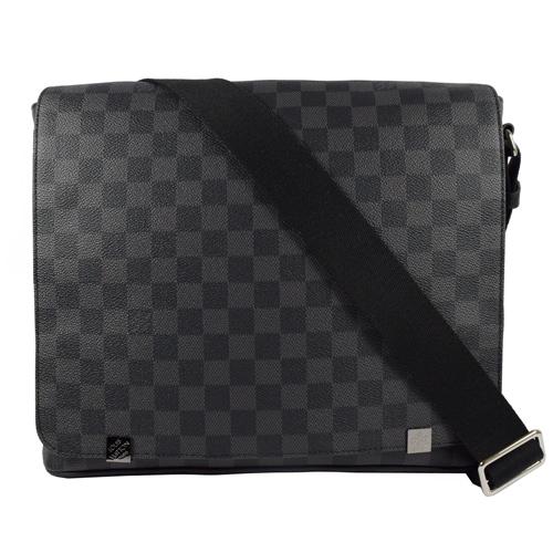 Louis Vuitton LV N41029 DISTRICT MM 黑棋盤格紋斜背包 現貨