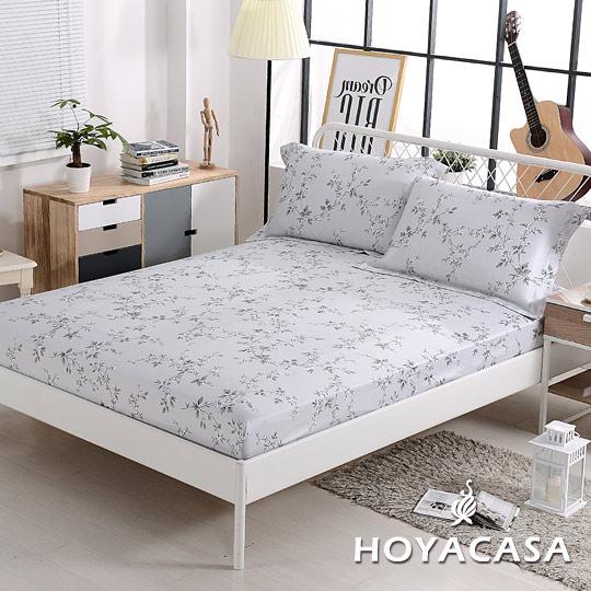 HOYACASA 100%天絲枕套床包組