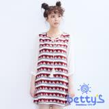 betty's貝蒂思 波希米亞風圖騰雪紡洋裝(白紅色)
