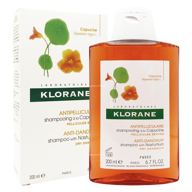 Klorane蔻蘿蘭 乾性頭皮 抗屑洗髮精200ml (紅百里香)