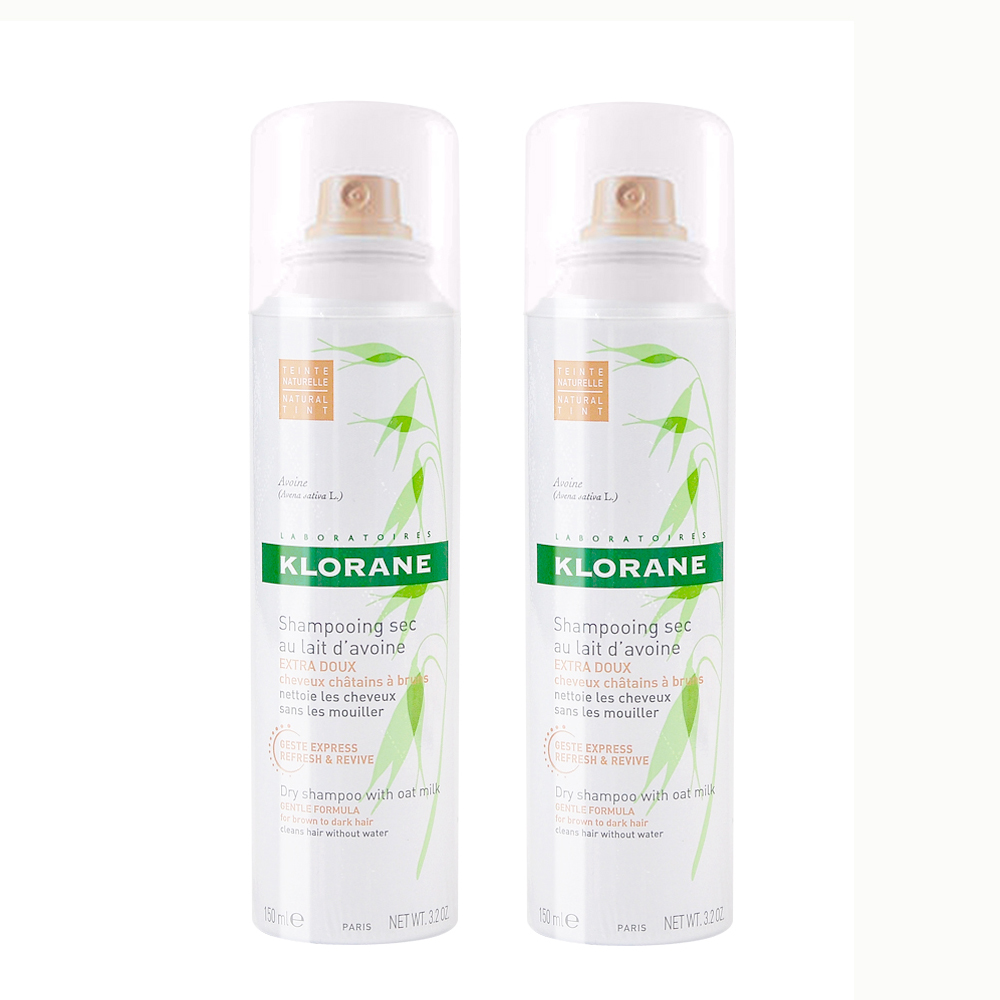 【KLORANE】蔻蘿蘭控油澎鬆乾洗髮噴霧150ml X2入組 加碼隨機贈25ml洗髮精X6罐 價值360元