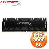 Kingston 金士頓 HyperX Predator DDR4 3000 8G 桌上型記憶體(HX430C15PB3/8)