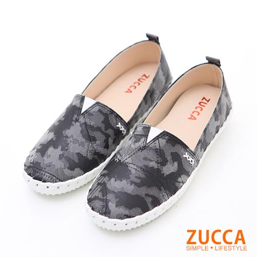 ZUCCA【z6204bk】繽紛色渲染彩平底包鞋-黑色