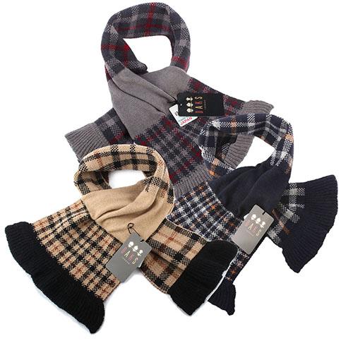 DAKS 經典格紋100%羊毛雙色圍巾均一價(多色可選)
