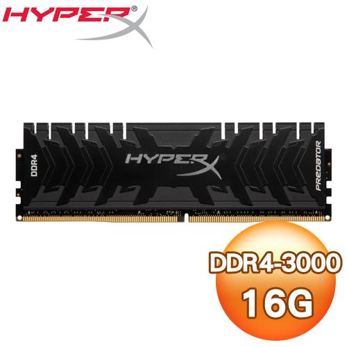 Kingston 金士頓 HyperX Predator DDR4 3000 16G 桌上型記憶體(HX430C15PB3/16)