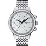 TISSOT Carson 經典三眼計時機械錶-銀/42mm T0854271101100