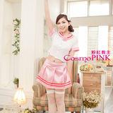【 粉紅教主】SC0077角色扮演服★可愛主題制服/學生制服-白色上衣&甜美淺粉色裙