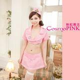 【 粉紅教主】SC0079角色扮演服★可愛主題制服/空姐制服-淺粉色上衣&淺粉短裙