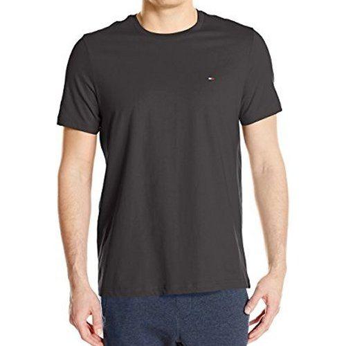 【Tommy Hilfiger】2017男時尚黑色圓領短袖T恤【預購】