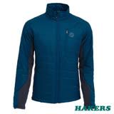 【HAKERS 哈克士】男 Primaloft機能保暖外套(藍綠/鐵灰)