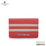 德國OFFERMANN-Tosca系列-海軍風條紋名片夾-桃紅色