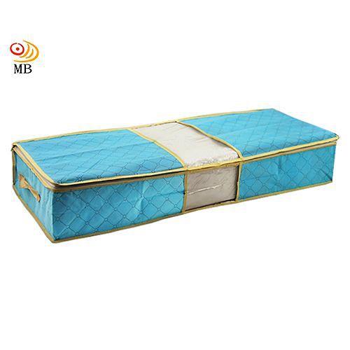 月陽85X40竹炭彩色透明視窗床下棉被衣物收納袋整理箱 C70L