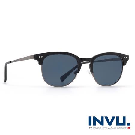 INVU瑞士 濾藍光偏光 復古眉框聯名款太陽眼鏡