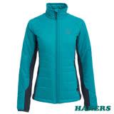 【HAKERS 哈克士】女款 Primaloft機能保暖外套(湖綠/鐵灰)