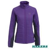 【HAKERS 哈克士】女款 Primaloft機能保暖外套(紫色/鐵灰)