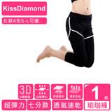 【KissDiamond】透氣排汗假2件7分運動褲(雙11限定)