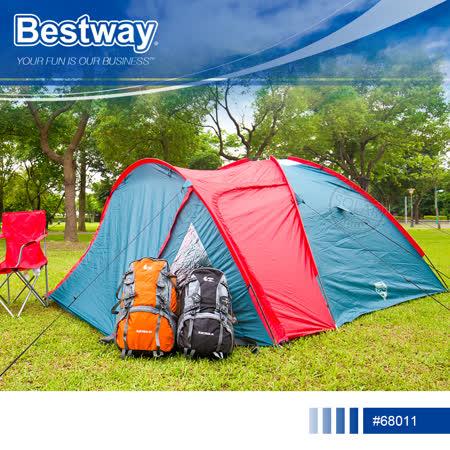 【Bestway】 68011 速搭三人家庭帳篷.PAVILLO超大空間防水防風簡易秒搭一房一廳3人帳棚四季客廳隧道帳