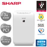 SHARP 夏普自動擊菌離子清淨機FU-D50T-W 白色