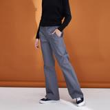 ICHE衣哲 簡約率性挺版素面百搭直筒造型長褲(三色)-灰