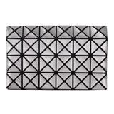 ISSEY MIYAKE BAOBAO 幾何方格4x6萬用卡片袋(珍珠銀)