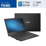 【ASUS】P2448U 14吋筆電-黑(i7-7500/4G*2/256G SSD/ Win10Pro)
