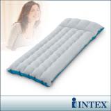 【INTEX】單人野營充氣床墊/露營睡墊-寬67cm(灰藍色)(67997)