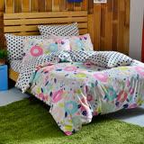 英國Abelia《漾彩點點》雙人純棉四件式被套床包組