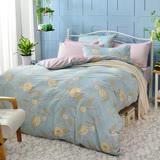 英國Abelia《湛藍微光》雙人純棉四件式被套床包組