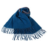 agnes b.-小 b.系列流蘇圍巾/披巾(灰/藍)