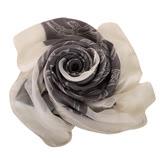 GUCCI- 竹節雙G LOGO圖騰造型絲巾(灰)