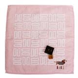 DAKS 臘腸犬&雙D LOGO 小方巾(粉)