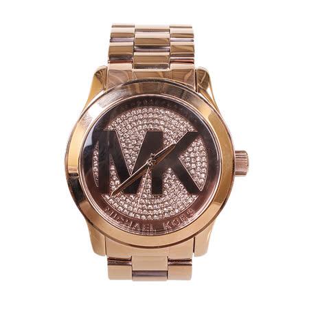 MICHAEL KORS 美式奢華施華洛晶鑽38mm 時尚女錶(金色)