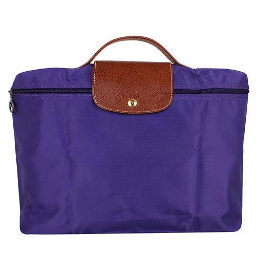 LONGCHAMP- Le pliage系列拉鍊摺疊公事包/紫水晶