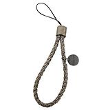 BOTTEGA VENETA - 羊皮編織手機吊飾(古銅)