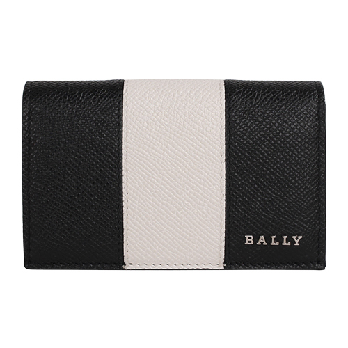 BALLY- LERYT 皮革翻蓋名片夾(黑白)