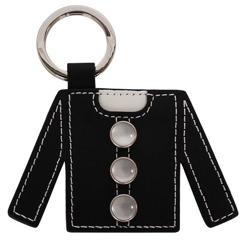 agnes.b 黑外套造型皮革鑰匙圈(黑)