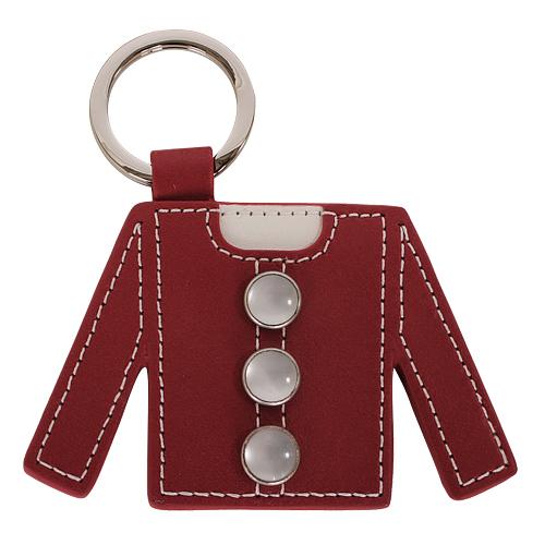 agnes.b 紅外套造型皮革鑰匙圈(紅)