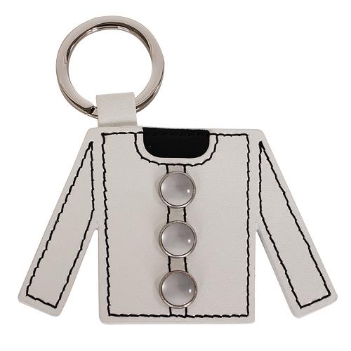 agnes.b 白外套造型皮革鑰匙圈(白)