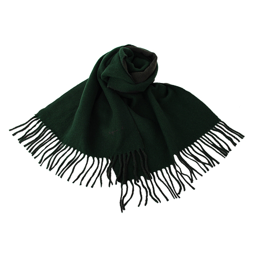 agnes b.-小 b.系列流蘇圍巾/披巾(深綠)