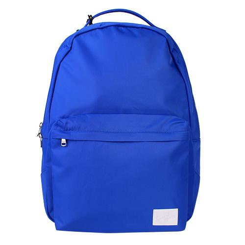 agnes b.-白SPORT b.標帆布拉鍊後背包(亮藍)