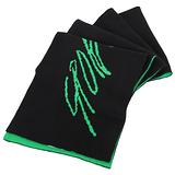 agnes b. - 草寫SPORT b.系列雙面圍巾(黑綠色)