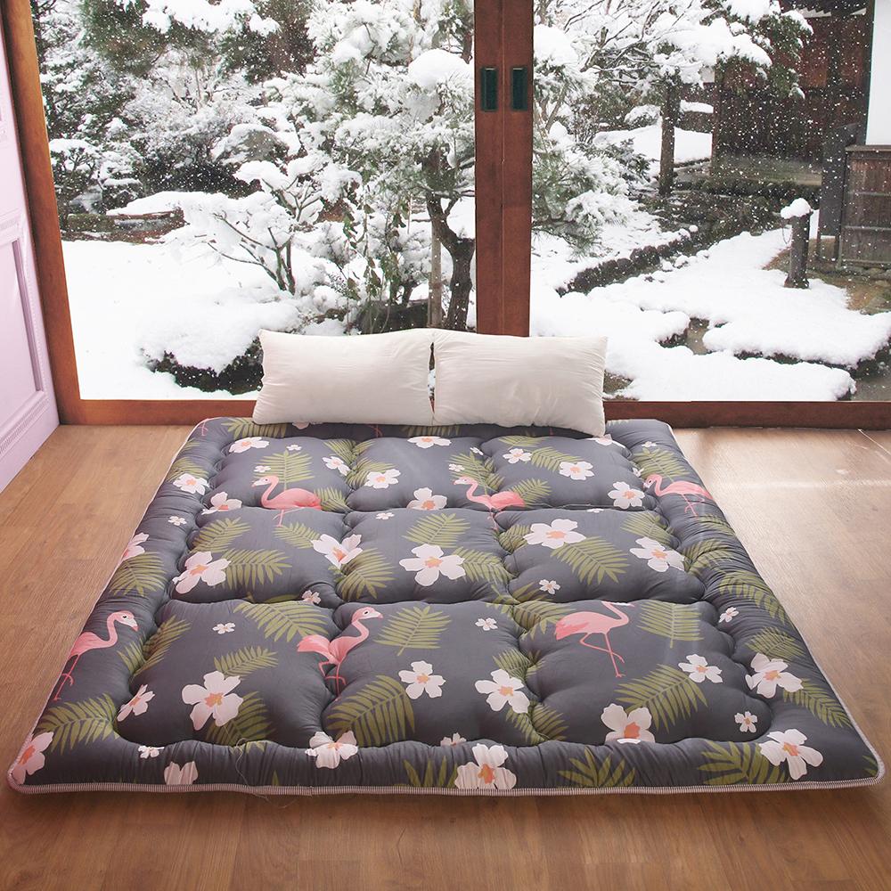 可水洗超厚實8cm 100%純棉日式床墊