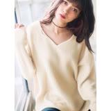 日本ANNA LUNA 預購-前短後長V領寬鬆羅紋針織上衣(共五色/M-3L)
