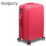 【Bogazy】愛戀巴黎 28吋PC鏡面可加大旅行箱(玫紅)