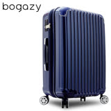 【Bogazy】愛戀巴黎 28吋PC鏡面可加大旅行箱(寶藍)