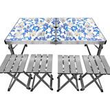 【Outdoorbase】鋁合金折疊桌椅組(一桌四椅)