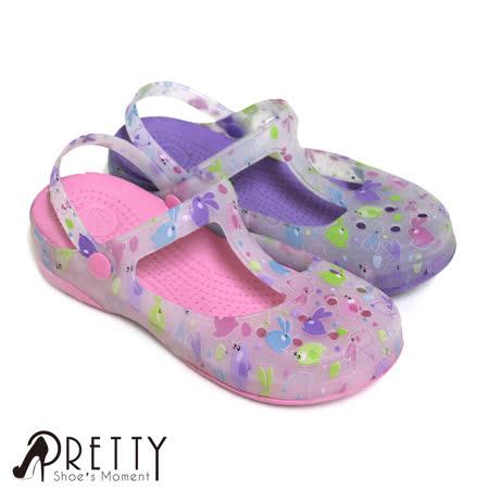 【Pretty】童趣可愛動物圖形兩穿防水鞋/雨鞋