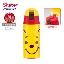 Skater不鏽鋼保溫吸管瓶(360ml)維尼FACE