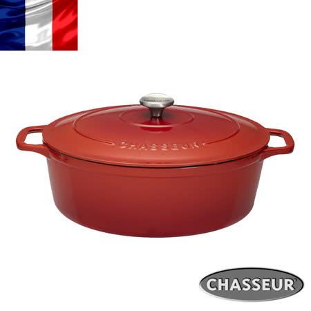 法國獵人 琺瑯鑄鐵橢圓彩鍋29cm